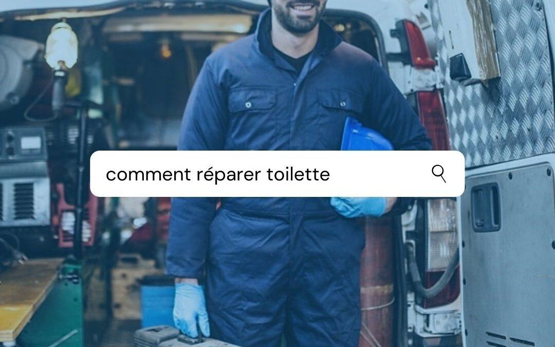 comment réparer rapidement une toilette
